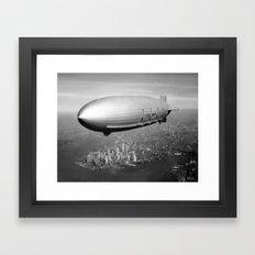 Airship over New York Framed Art Print