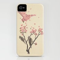 iPhone Cases featuring Blossom Bird  by Terry Fan