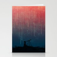star Stationery Cards featuring Meteor rain by Picomodi