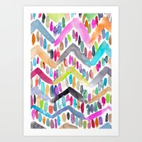 Candy Chevron Art Print