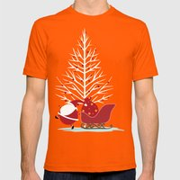 Happy Santa Mens Fitted Tee Orange SMALL