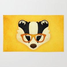 Hipster Badger: Gold Rug