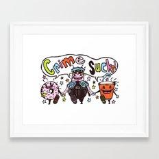 Crime!!! Framed Art Print