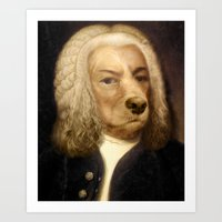 Bach, your best friend!  Art Print