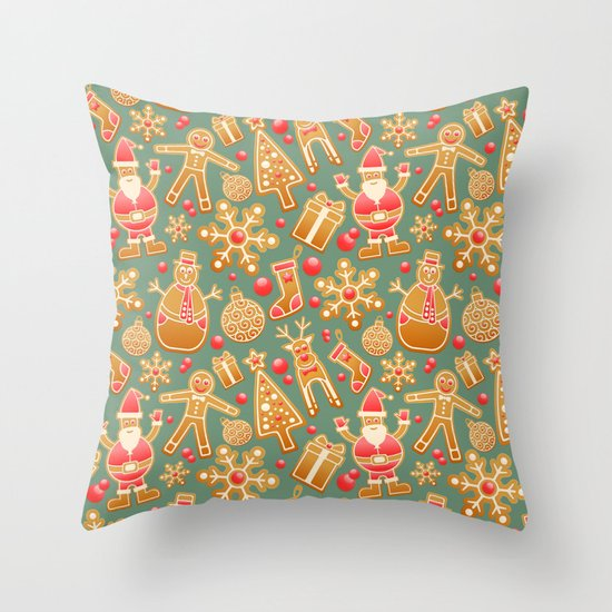 merry Christmas 5 Throw Pillow