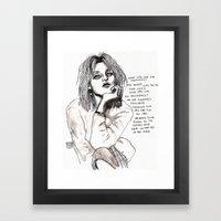Courtney Lyrics  - Old A… Framed Art Print