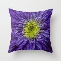 Purple Explosion Throw Pillow