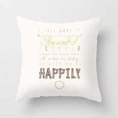 One Direction: Happily Throw Pillow
