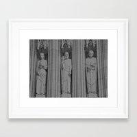 3 Statues Framed Art Print
