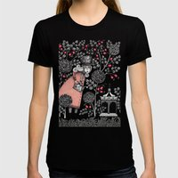 Winter Garden Womens Fitted Tee Black SMALL