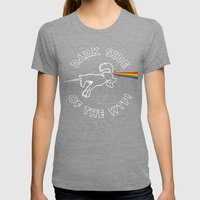 Dark Side Of The WTF! Womens Fitted Tee Tri-Grey SMALL