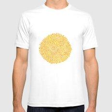 Yellow Chrysanthemum  SMALL Mens Fitted Tee White