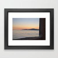 just beyond the ledge Framed Art Print