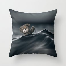 Riding The Waves Throw Pillow