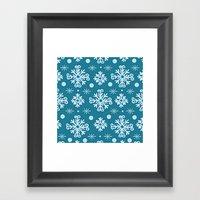 Snowflake Pattern Framed Art Print