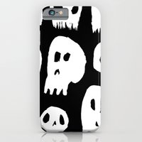 iPhone & iPod Case featuring Spooky Skulls by Brittany Metz
