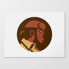 Headgear: Hell boy Canvas Print