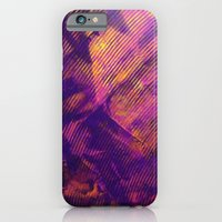 iPhone & iPod Case featuring Purple and Orange Stripes by Katie Troisi