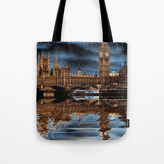 A wet day in London Tote Bag