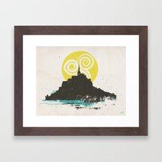 Le Mont Saint Michel (Saint Michael's Mount), Normandy, France Framed Art Print