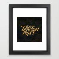 Tension Framed Art Print