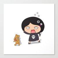 Run teddy, run! Canvas Print