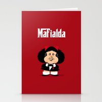 coupling up Mafialda Stationery Cards