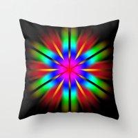 Throw Pillow featuring Flower by MattXM85