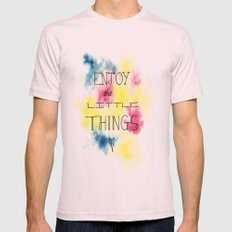 Enjoy the little things Mens Fitted Tee Light Pink SMALL
