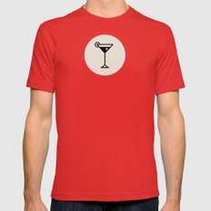Cocktail Icon - Drinks S… Mens Fitted Tee Red SMALL