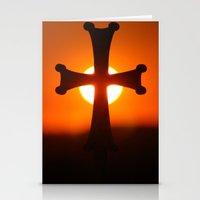 Sunset Cross Stationery Cards