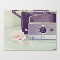 Polaroid, I Love You Canvas Print