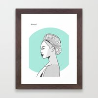 Profile B Framed Art Print