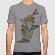 Robin Hood  Mens Fitted Tee Athletic Grey SMALL