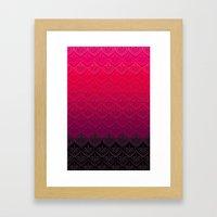 ELENA PATTERN - FLAMENCO VERSION Framed Art Print