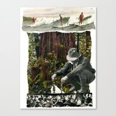 Surfing The History Of Trees Canvas Print