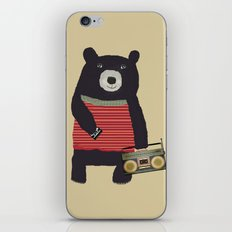 Boomer bear iPhone & iPod Skin