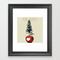 Pine Apple Framed Art Print