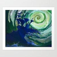 Rage Against Poseidon Art Print