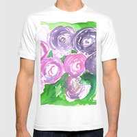 Roses Mens Fitted Tee White SMALL