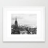 New York Noir Framed Art Print