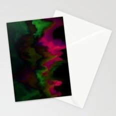 fuchsia drips Stationery Cards