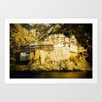 Grigoriou Monastery, Mou… Art Print