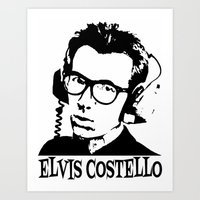 Elvis Costello | Headphones Art Print