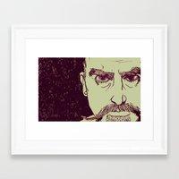 Framed Art Print featuring Gruff by boy Roland
