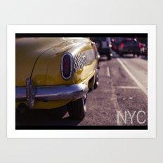 A Yellow Cab  Art Print