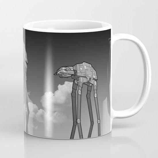 Dali's Mechanical Elephants - Black Sky Mug