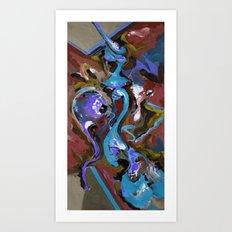 Wish blue Art Print