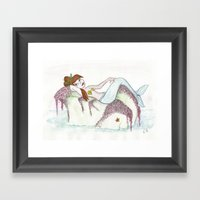 Sassy Mermaid Framed Art Print