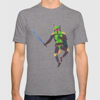 Boba Fett With A Lightsa… Mens Fitted Tee Tri-Grey SMALL